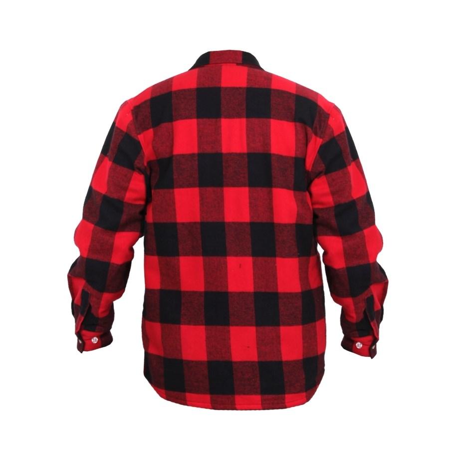Košile dřevorubecká zateplená fleece kostkovaná ČERVENÁ ROTHCO 2739 L-11