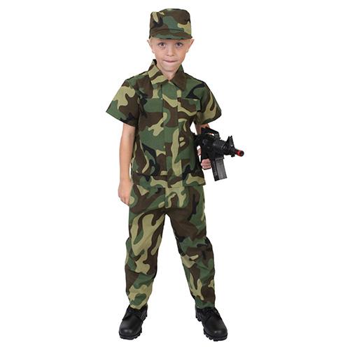 ROTHCO | Komplet kostým VOJÁK dětský WOODLAND vel.7-9 let