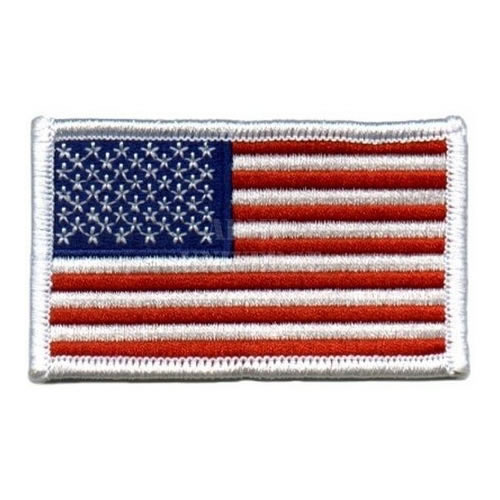 Nášivka US vlajka 5 x 7,5 cm barevná s bílým lemem