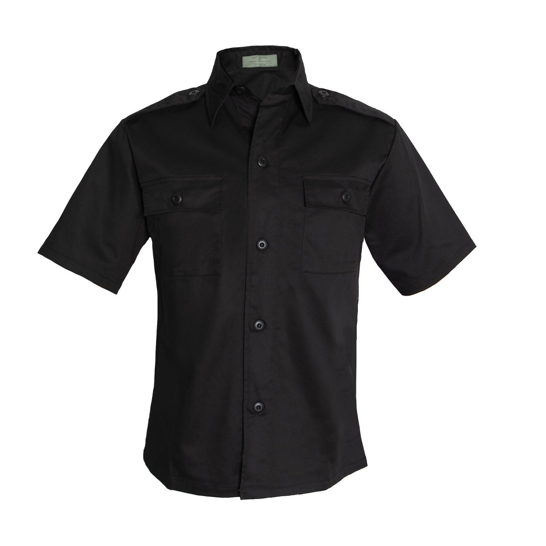 Košile služební krátký rukáv ČERNÁ ROTHCO 30205 L-11