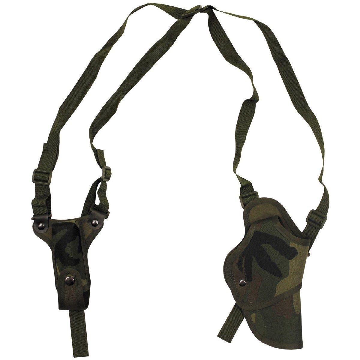 MFH int. comp.   Pouzdro na zbraň podpažní s kapsou na zásobník WOODLAND
