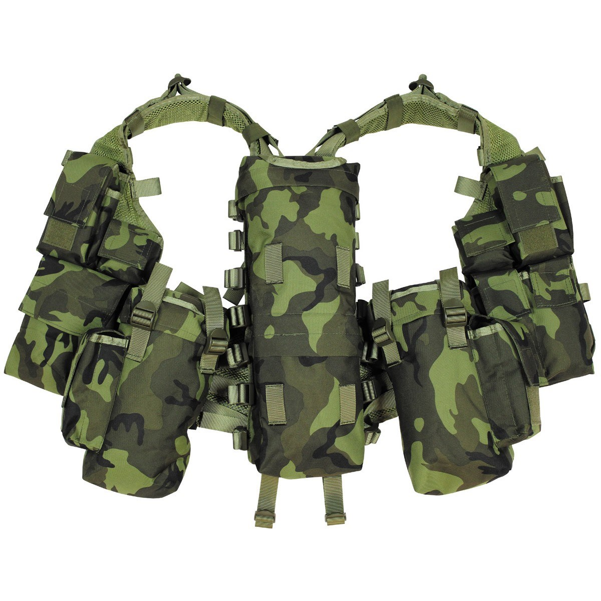 MFH int. comp. Vesta taktická s 12 kapsami vz.95 les