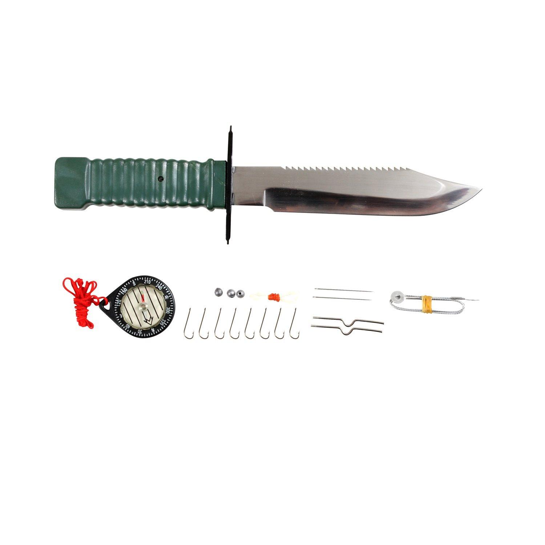 Nůž s pevnou čepelí na přežití SURVIVAL WOODLAND ROTHCO 3237 L-11