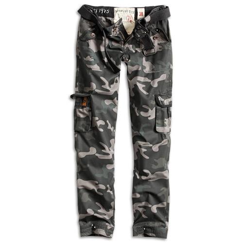 SURPLUS Kalhoty dámské PREMIUM SLIMMY BLACK CAMO