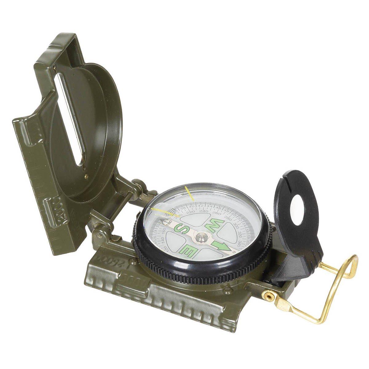 Kompas US kovový ZELENÝ