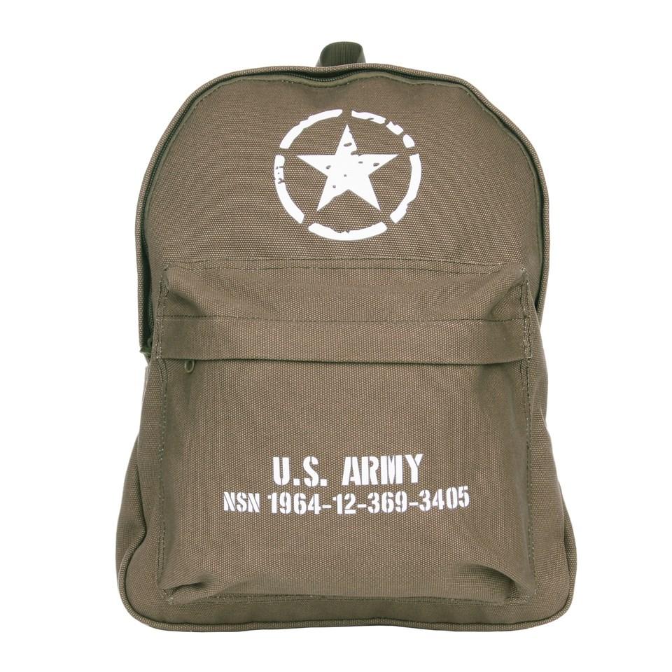Batoh dětský U.S. ARMY plátěný ZELENÝ