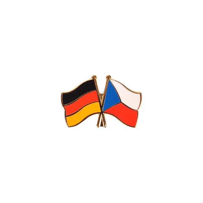 Odznak vlající vlajky přátelství ČR x DE