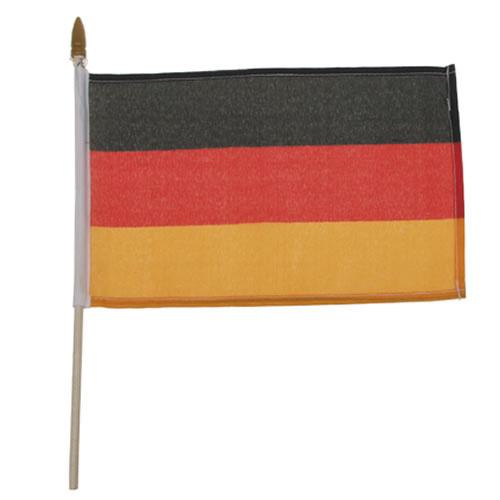 Vlajka NĚMECKO plastová tyčka 10 x 15cm