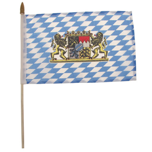 Vlajka BAVORSKO plastová tyčka 10 x 15cm