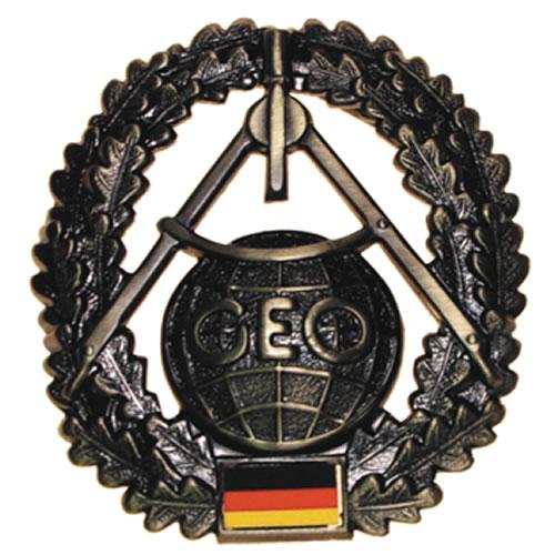 Odznak BW na baret Topographietruppe kovový
