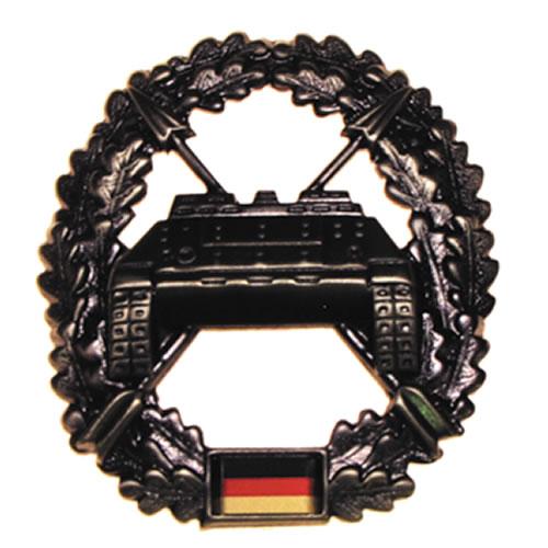 Odznak BW na baret Panzerjägertruppe kovový