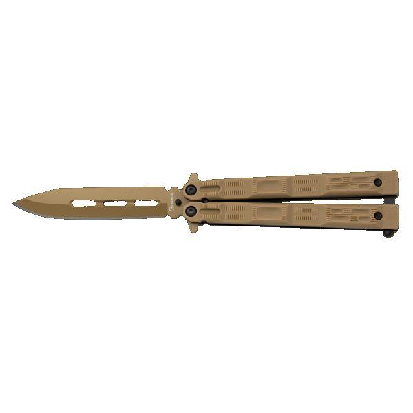 Nůž motýlek Albainox 36226 KHAKI