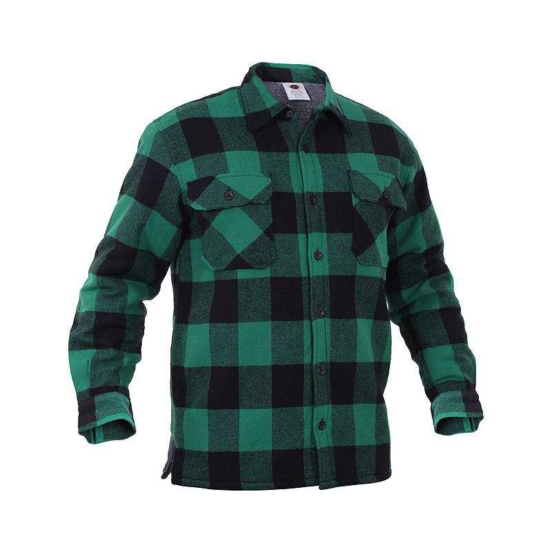 Košile dřevorubecká zateplená kostkovaná ZELENÁ ROTHCO 3735 L-11