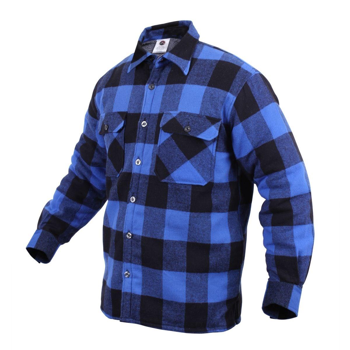 Košile dřevorubecká zateplená kostkovaná MODRÁ ROTHCO 3739BLU L-11