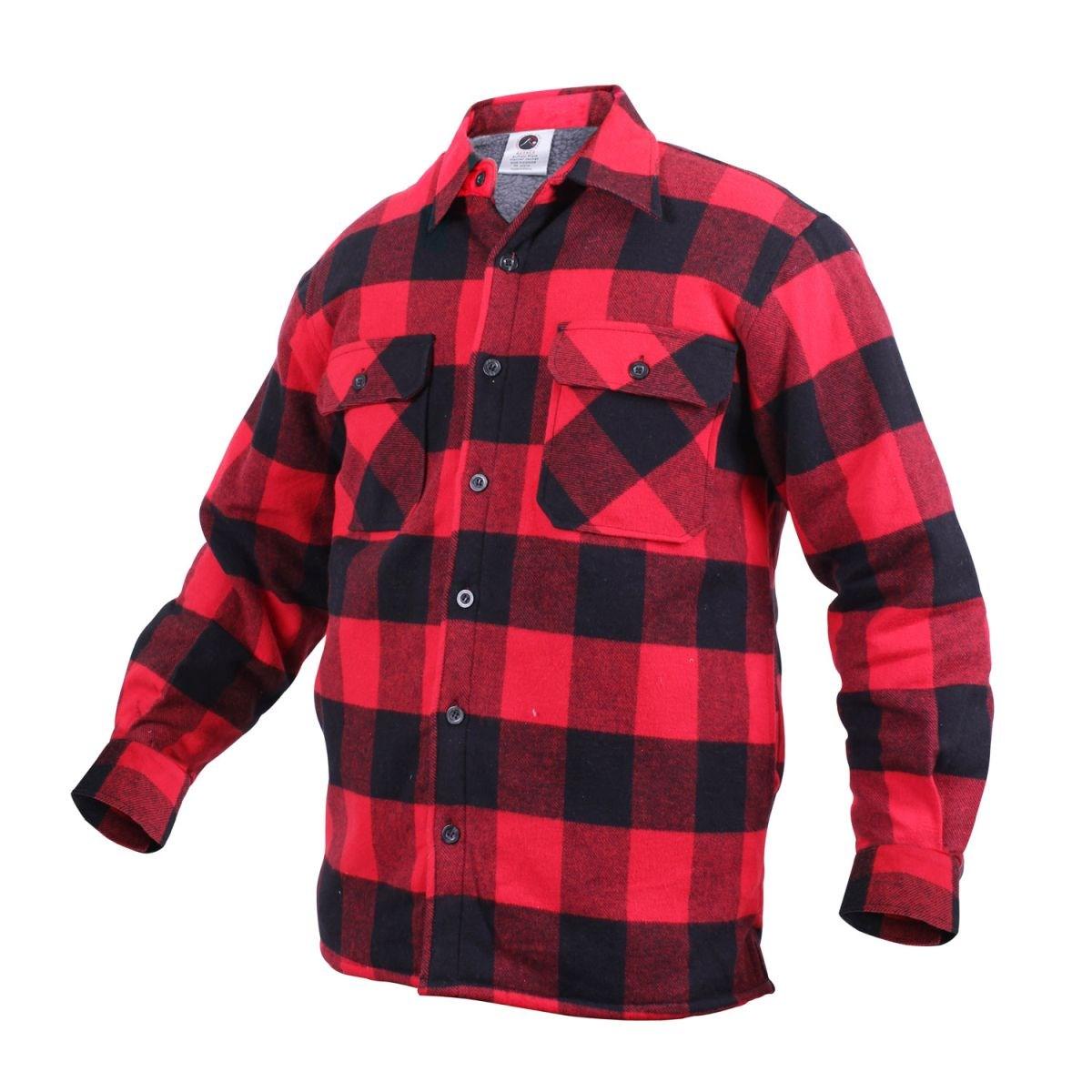 Košile dřevorubecká zateplená kostkovaná ČERVENÁ ROTHCO 3739RED L-11