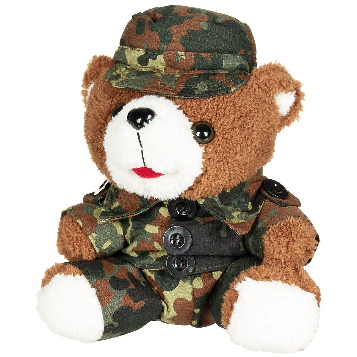 Medvídek plyšový v oblečení 28 cm FLECKTARN