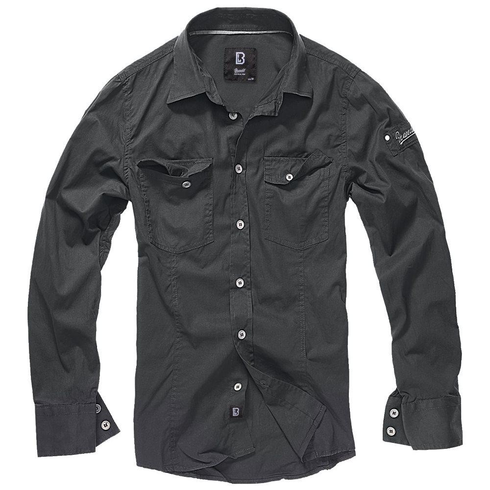 Košile SLIM ČERNÁ BRANDIT 4005-02 L-11