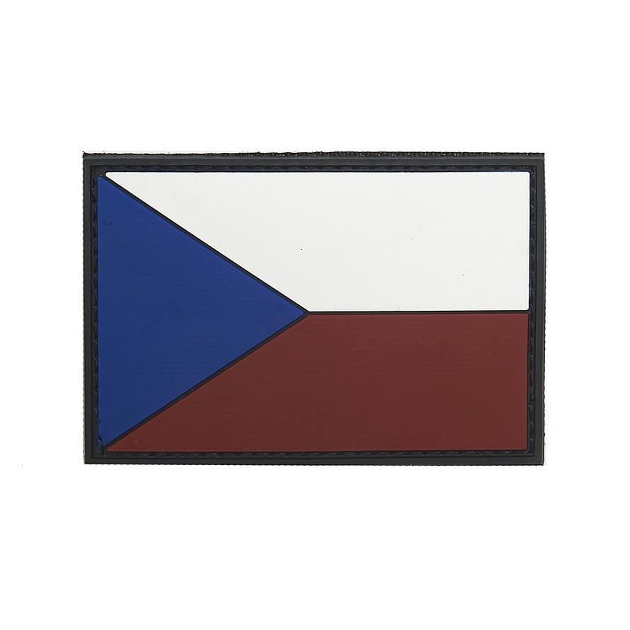 Nášivka vlajka ČR barevná plast VELCRO 8x5cm