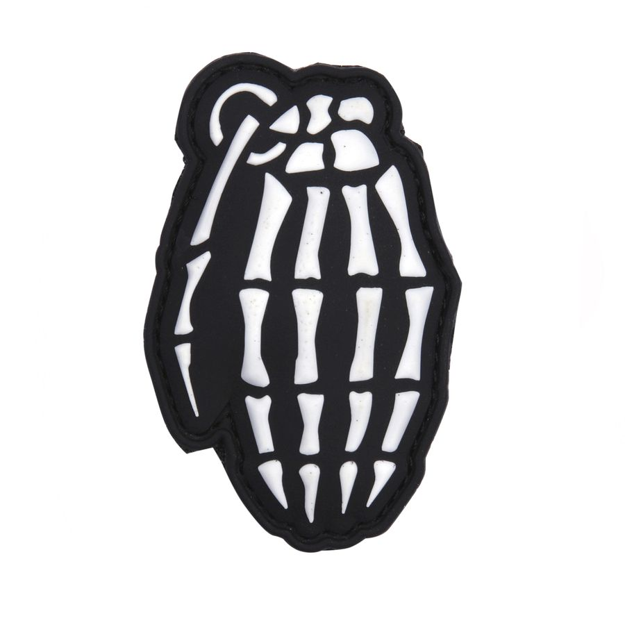 Nášivka 3D plastová kostěný GRANÁT