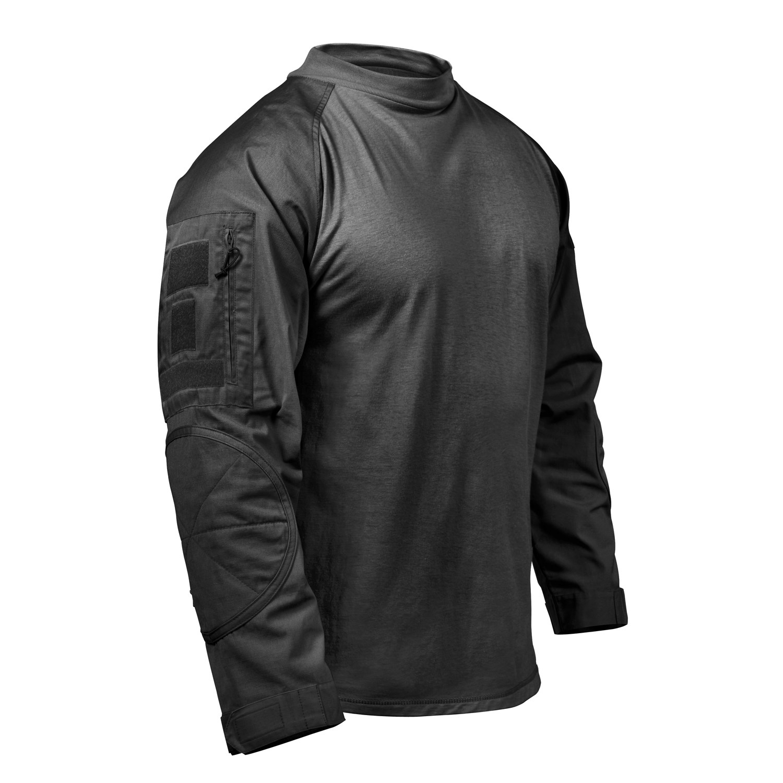 Košile taktická AIRSOFT COMBAT ČERNÁ ROTHCO 45010 L-11