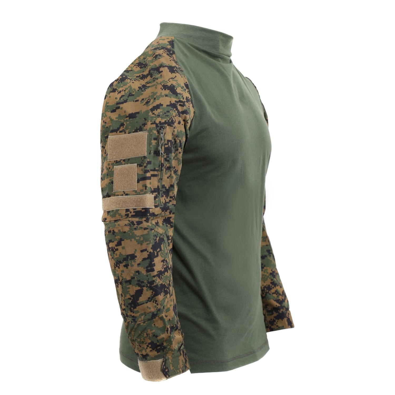 Košile taktická AIRSOFT COMBAT DIGITAL WOODLAND ROTHCO 45030 L-11