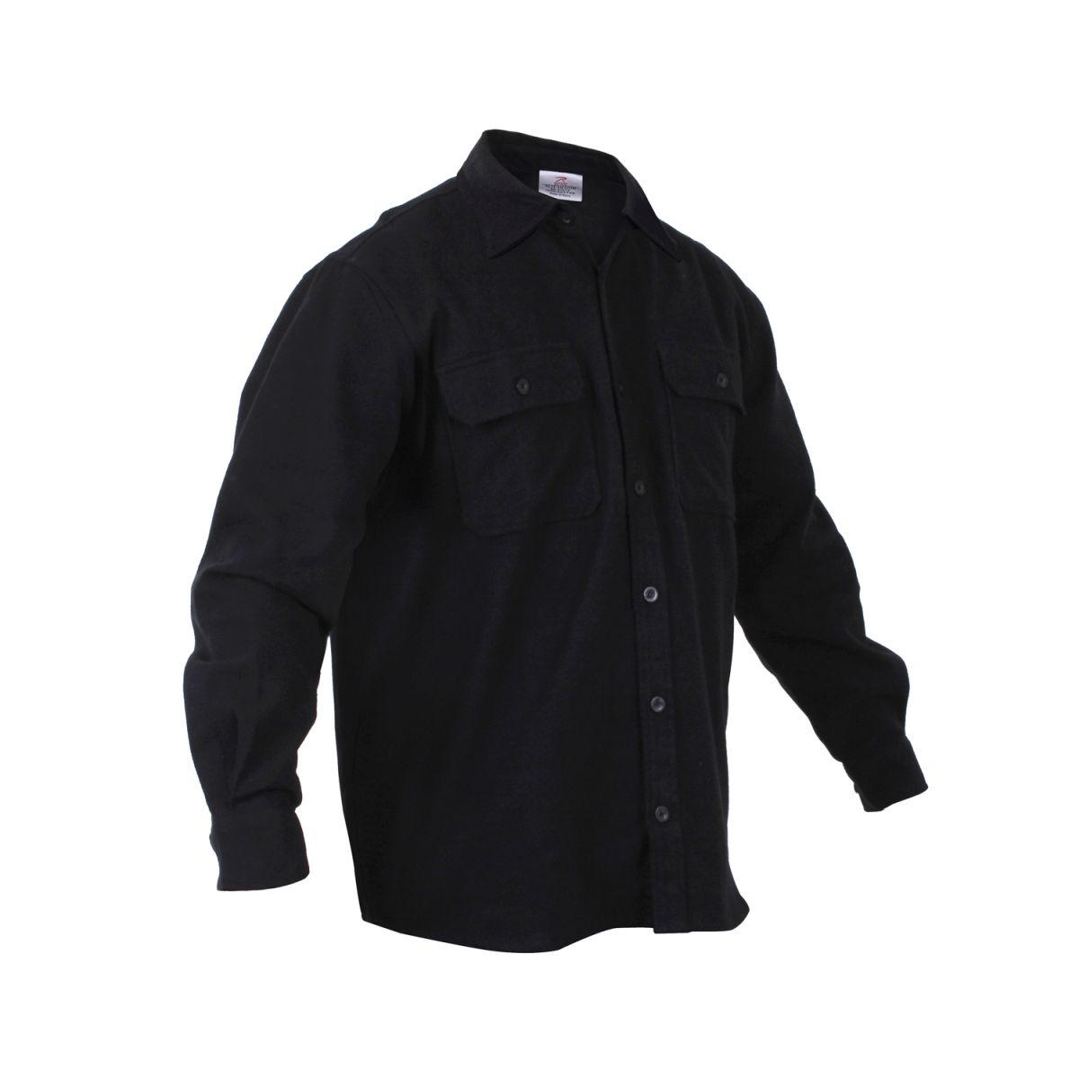 Košile dřevorubecká FLANNEL ČERNÁ ROTHCO 4637 L-11