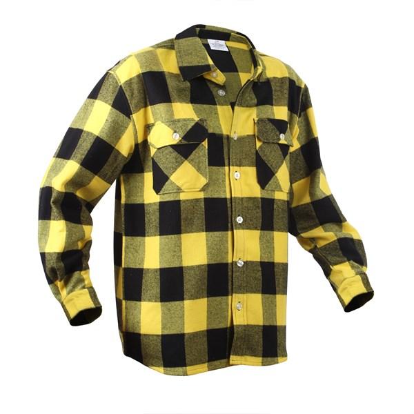 Košile dřevorubecká FLANNEL kostkovaná ŽLUTÁ ROTHCO 4649 L-11