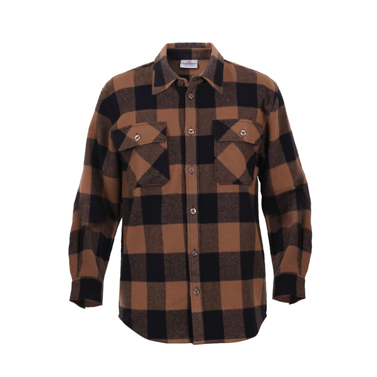 Košile dřevorubecká FLANNEL kostkovaná HNĚDÁ ROTHCO 4667 L-11