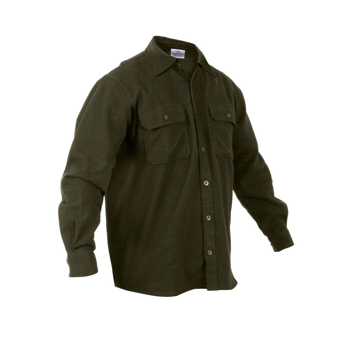 Košile dřevorubecká FLANNEL ZELENÁ ROTHCO 4669 L-11