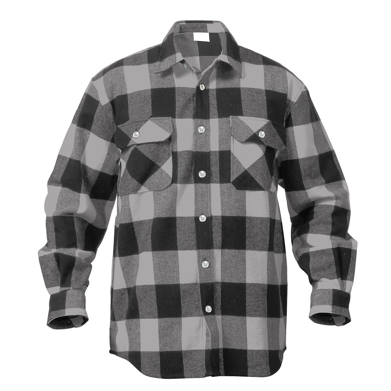 Košile dřevorubecká FLANNEL kostkovaná ŠEDÁ ROTHCO 4690 L-11