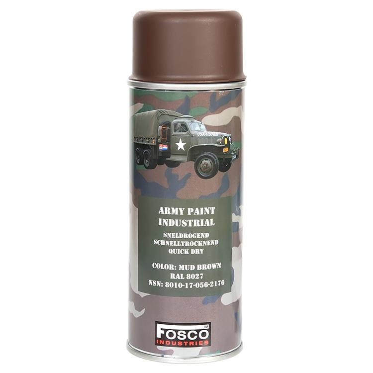 FOSCO Barva ARMY ve spreji 400ml RAL 8027 HNĚDÁ