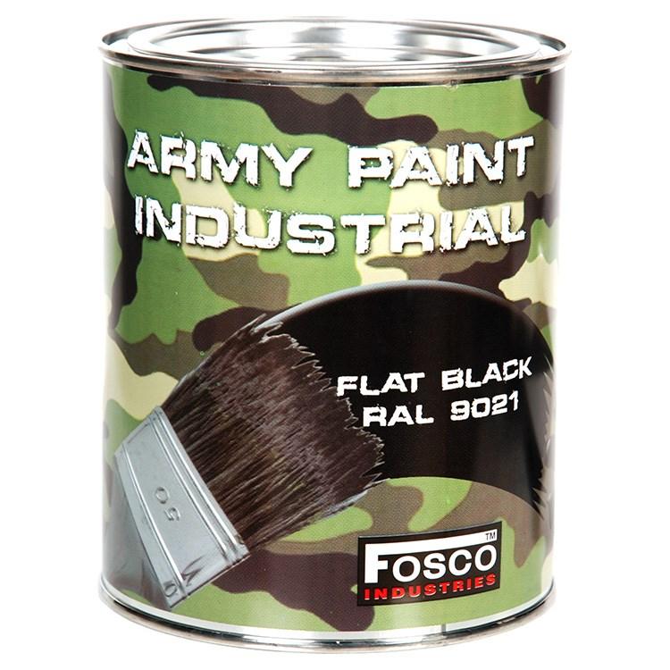 FOSCO Barva ARMY nátěrová 1l RAL 9021 ČERNÁ