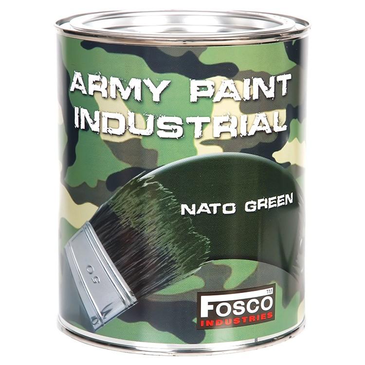 Barva ARMY nátěrová 1l ZELENÁ NATO