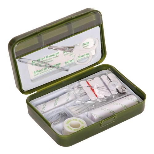 Lékárnička první pomoci s vybavením ZELENÁ