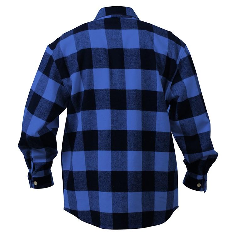 Košile dřevorubecká FLANNEL kostkovaná MODRÁ ROTHCO 4739BLU L-11