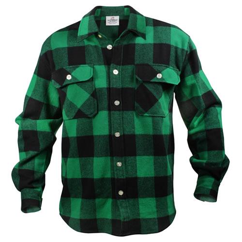 Košile dřevorubecká FLANNEL kostkovaná ZELENÁ ROTHCO 4739GRN L-11