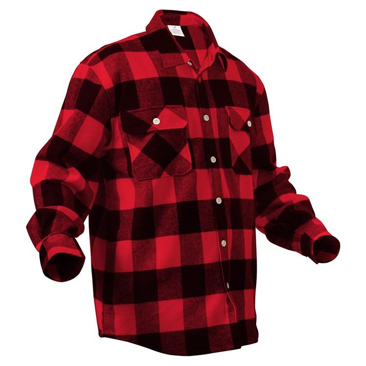 Košile dřevorubecká FLANNEL kostkovaná ČERVENÁ ROTHCO 4739RED L-11