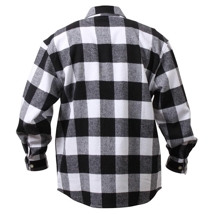 Košile dřevorubecká FLANNEL kostkovaná BÍLÁ ROTHCO 4739WHT L-11