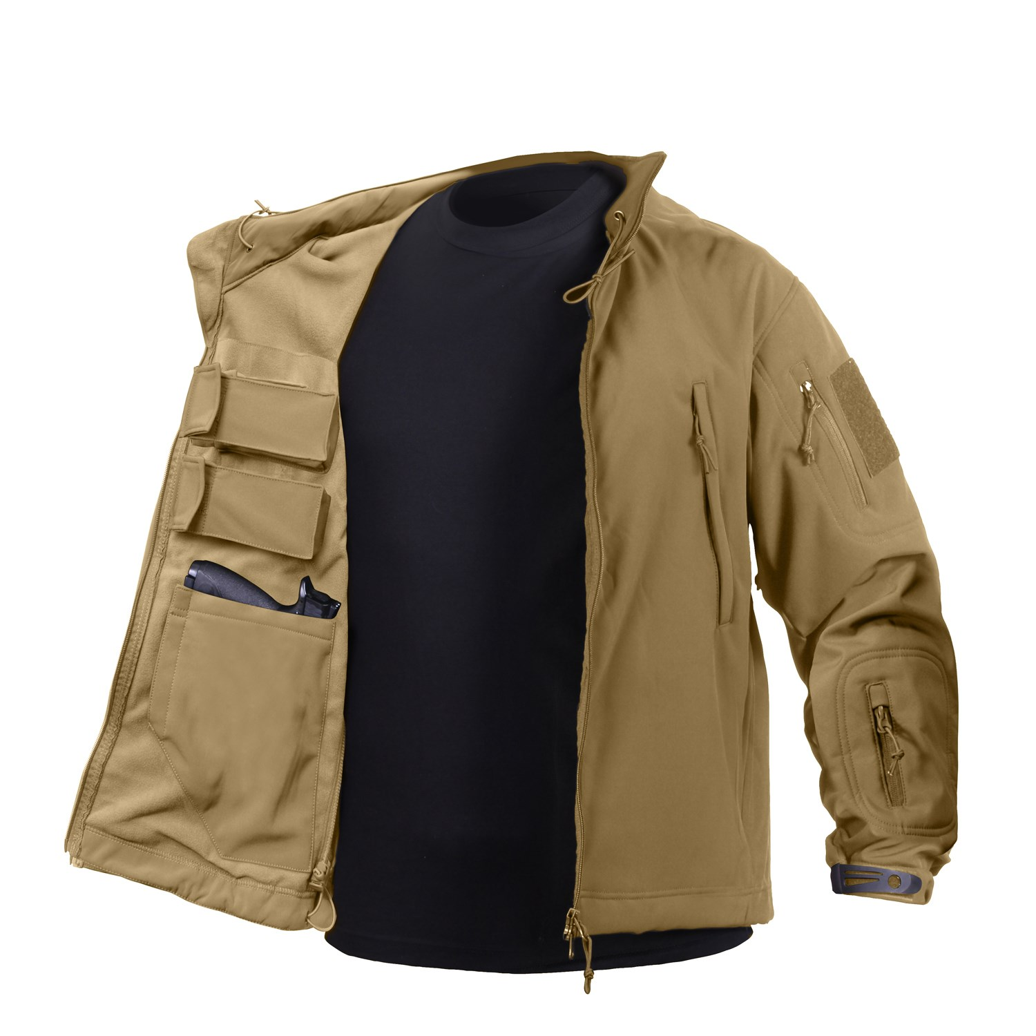 Bunda CONCEALED CARRY softshell COYOTE BROWN ROTHCO 55485 L-11