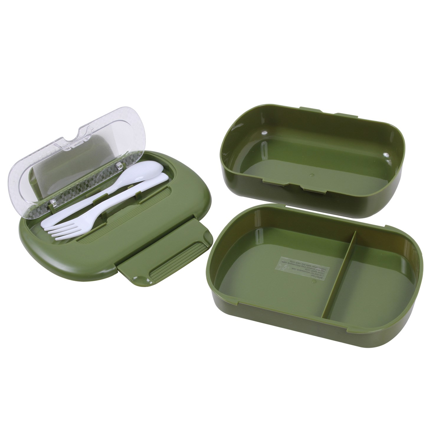 Souprava nádobí plastová s příborem ZELENÁ