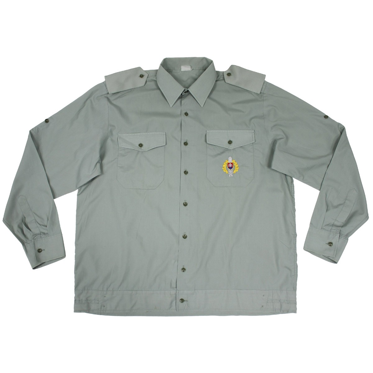 Košile SK s dlouhým rukávem slovenská vycházková ZELENÁ Armáda Slovenská 9602378 L-11