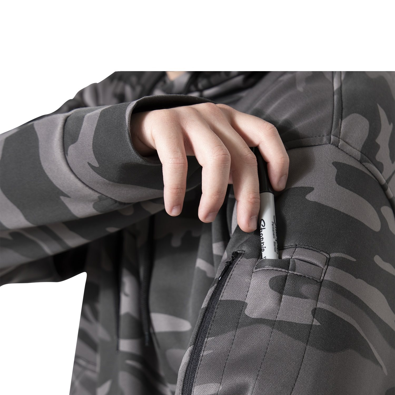 Mikina CONCEALED CARRY s kapucí BLACK CAMO ROTHCO 6135 L-11