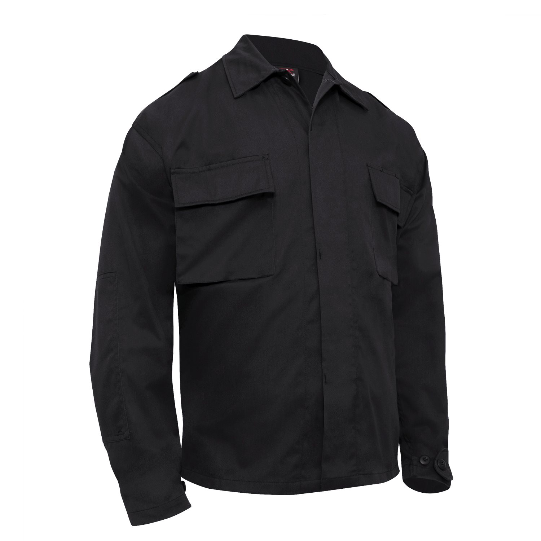Košile taktická BDU dlouhý rukáv ČERNÁ ROTHCO 6350 L-11