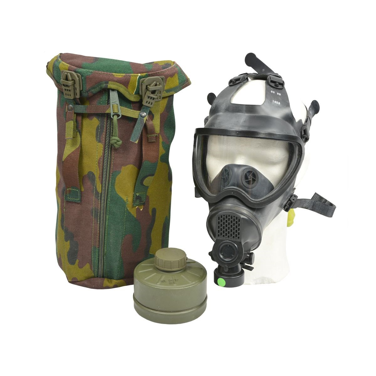 Maska plynová belgická PANORAMA s filtrem a obalem Armáda Belgická 640496 L-11