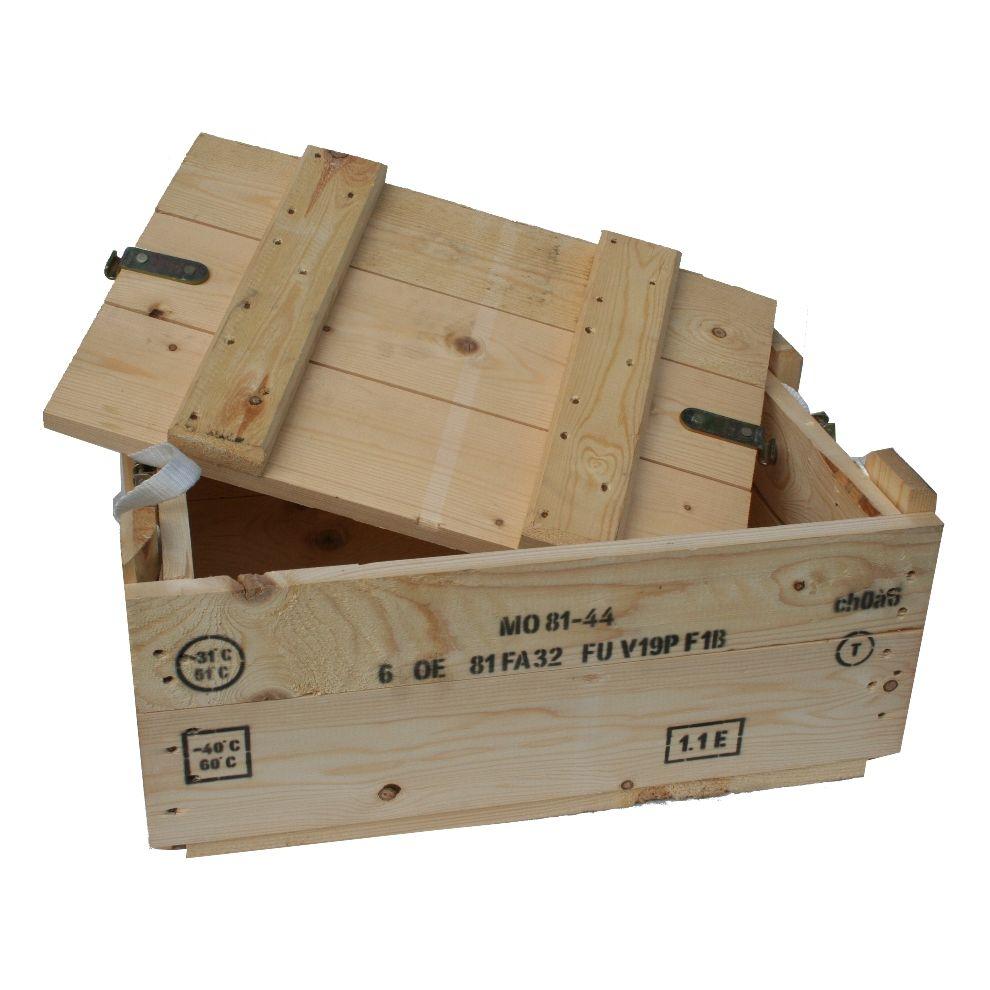 Bedna na munici FRANCOUZSKÁ dřevěná SVĚTLÁ