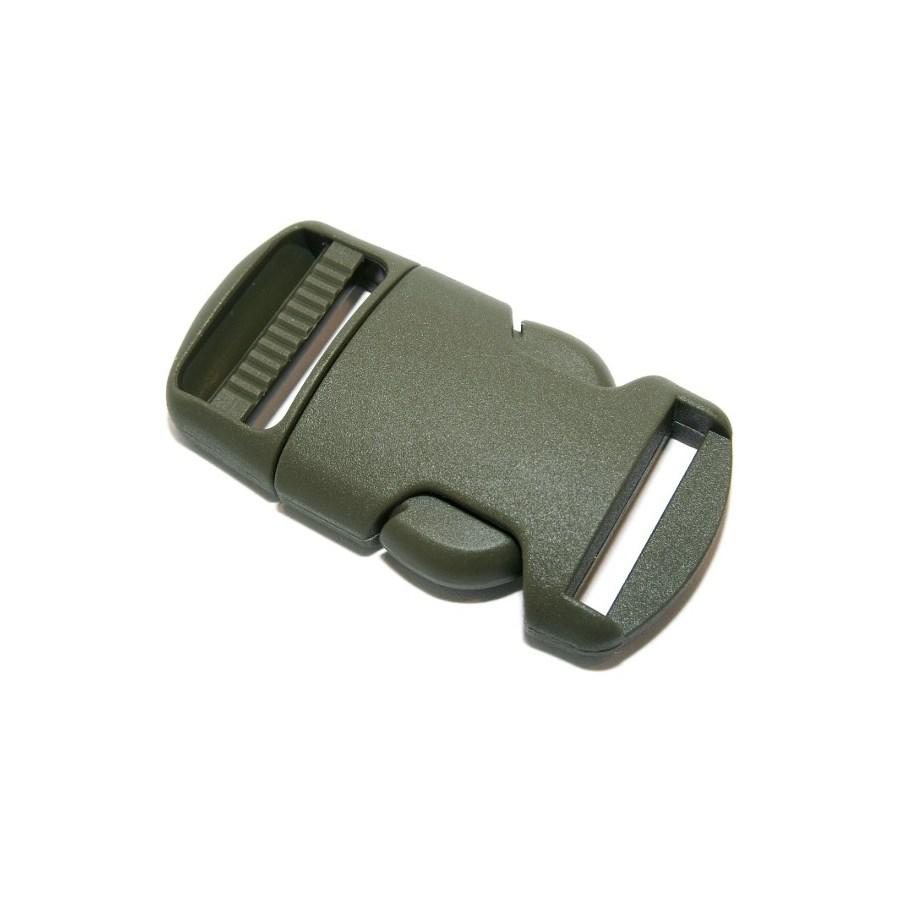 Spona/přezka plastová kompletní 20 mm ZELENÁ