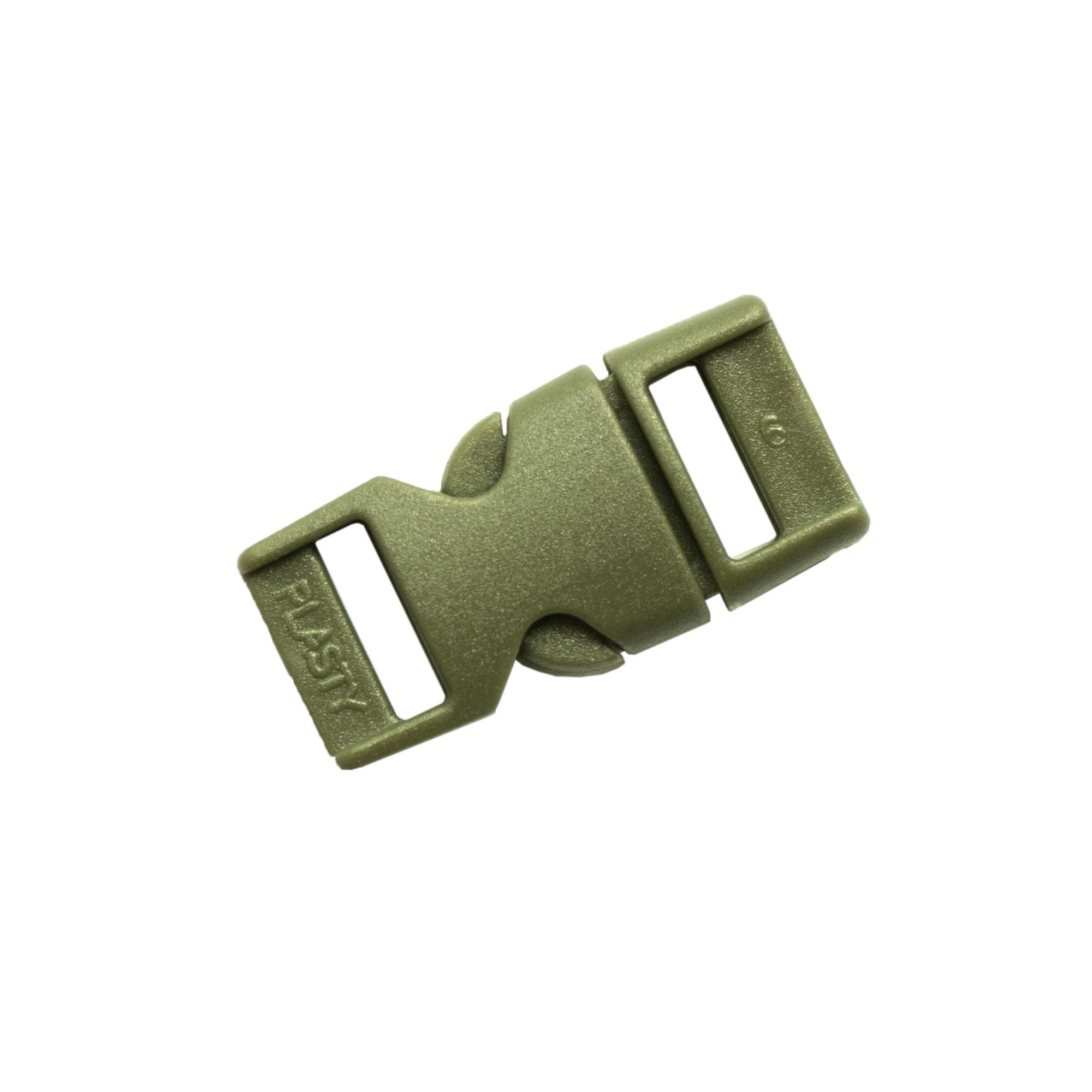 Spona/přezka plastová kompletní 10 mm ZELENÁ