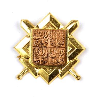 Odznak AČR znak a meče zlatý