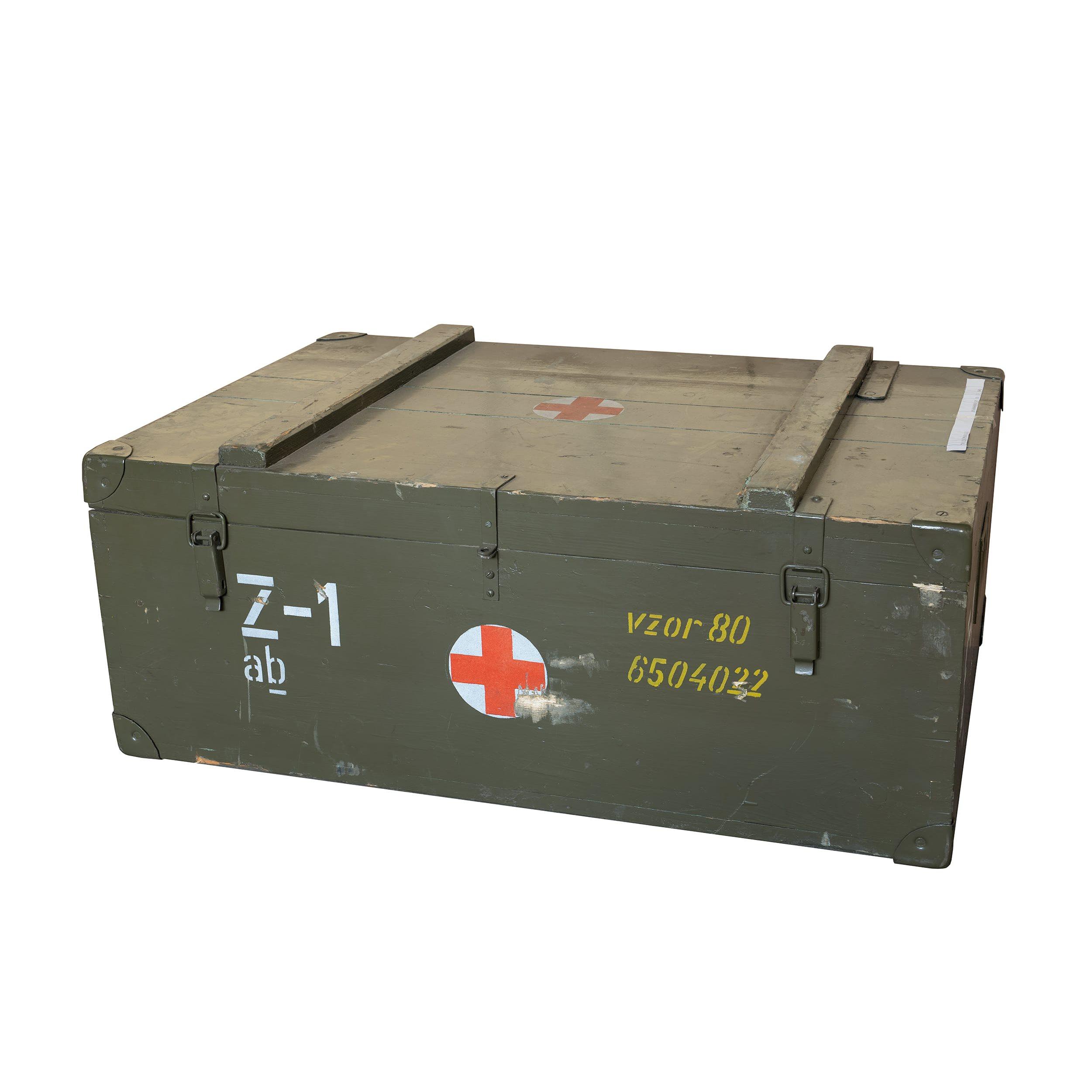 Křeslo zubařské skládací polní v bedně Z-1 Armáda ČR 87027-Z-1 L-11