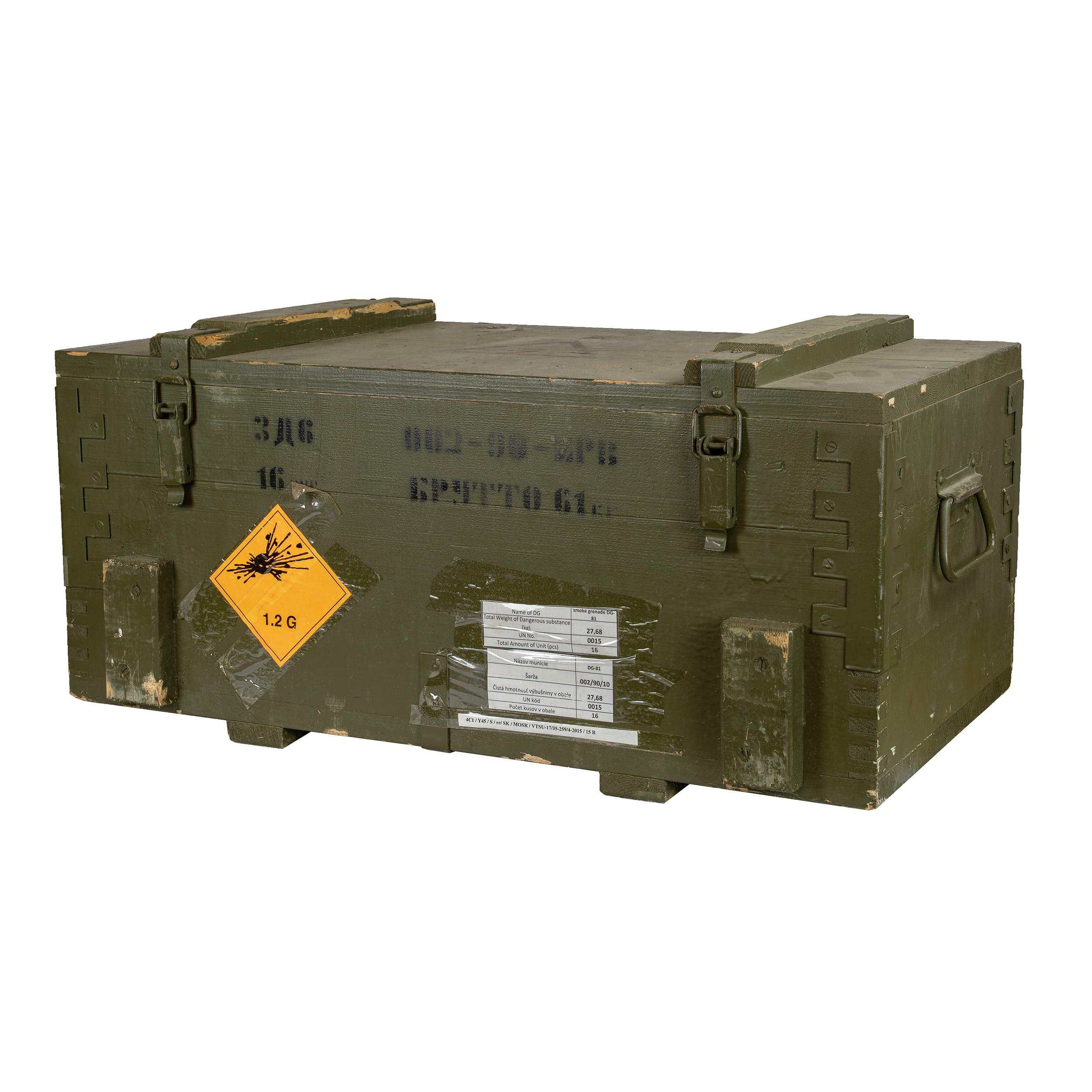 Bedna dřevěná od munice 3D6 použitá Armáda ČR 870273D6 L-11
